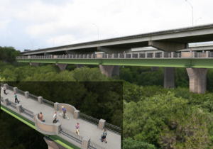 A bicycle and pedestrian bridge will run adjacent to MoPac, over Barton Creek. Credit: Courtesy of City of Austin